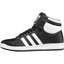 Adidas Originals Top Ten Hi Trainers Black/White/Black