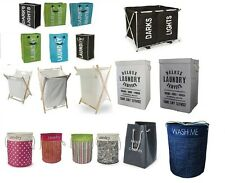 FOLDING LAUNDRY CLOTHES WASHING TOY STORAGE HAMPER BIN BAG BASKET BATHROOM LINEN