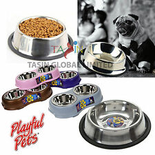 Pet Bowl Dog Cat Puppy Non Slip Food Water Fun Feeding Dish Pet Care Suppliers