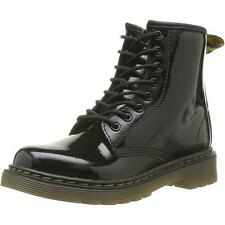 Dr Martens Delaney Youth Black Patent Ankle Boots