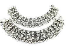 Bollywood style kundan silver plated bridal anklet oa11