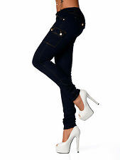 Sexy New Women's Stretchy Jeans Trousers Skinny Slim Combat Style E 005