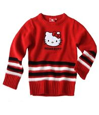 MAGNIFIQUE PULL HELLO KITTY LICENSE SANRIO ROUGE 8 ANS *NEUF*