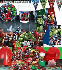Avengers Age Of Ultron Birthday Party Superhero Tableware Plates Cups Napkins