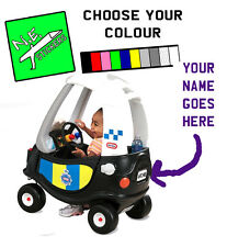 Personalised Number Plate: POLICE Little Tikes Cozy Coupe kids ride on toy car