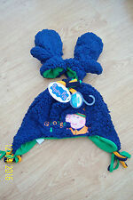 "BOYS ""GEORGE PIG"" HAT & MITTS SET 5 - 7 YEARS NAVY & GREEN PEPPA PIG M&Co BNWT"