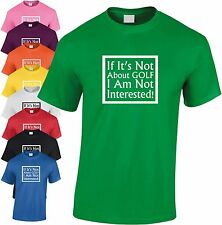 Si Ha Not About Golf Not Interested Niños Camiseta Infantil Pesca Camiseta