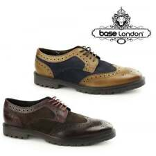 Base London CONFLICT Mens Suede/Leather Smart Funky Commando Sole Brogue Shoes