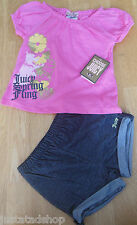 Juicy Couture baby girl summer top & shorts 6-12, 12-18 m BNWT designer JCKIG490