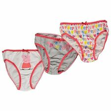 Peppa Pig Girls Pink Red Pants Briefs Knickers Underwear x 3 Age 2/3 4/5 6/8 Box
