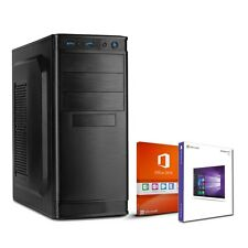 Büro PC Intel Core i3 6100 8GB 1000GB HDD Windows 10 Office 2016 Workstation