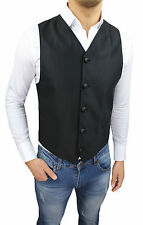 GILET UOMO FB DIAMOND SARTORIALE NERO MADE IN ITALY CASUAL ELEGANTE CERIMONIA
