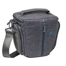 Rivacase Colt 7501_grau Padded Canvas Camera Case for SLR Cameras Grey
