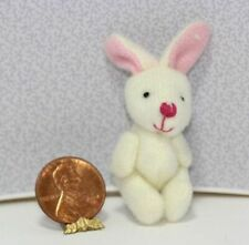 Dollhouse Miniature 1:12 Scale Soft White Jointed Bunny Rabbit