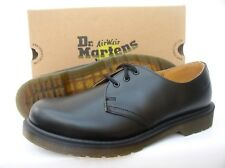 DR. MARTENS 1461 SMOOTH BLACK LEATHER CLASSIC 3 EYELET LACE UP SHOES