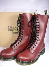 DR. MARTENS 1914z 14 EYELET CHERRY SMOOTH LEATHER BOOTS BOOTS 1914z