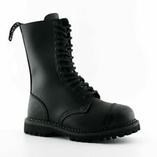 Grinders Herald CS Derby Black Boots Unisex 14 Holes Casual Style High Quality