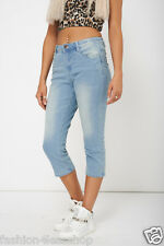 BNWOT LADIES WOMENS CROPPED Denim SUMMER Jeans TROUSERS SIZE 8 10 12 14 16 18 20