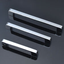 Chrome Kitchen Cupboard Cabinet Drawer Door Handles 3 Sizes Slim Shiny  Handles
