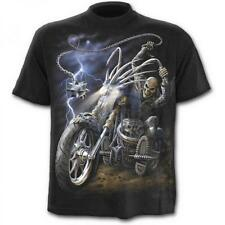 DTO. -20% ! Camiseta Chico SPIRAL Manga Corta Ride To Hell TR233600 Metal, Gothi