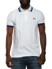 FRED PERRY POLO SLIM FIT 30102284 BIANCO polo uomo