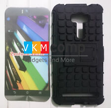 New Asus Zenfone Selfie Hard Armor Hybrid Rubber Bumper Stand Rugged Back Case