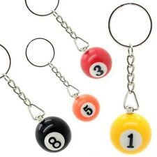 1 Billard ball Pool Snooker Sports Gift Key fob Chain Ring Number 1-15