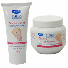 C.M.S Medical Zinc & Castor Baby Nappy Diaper Rash Skin Care Cream Various Sizes