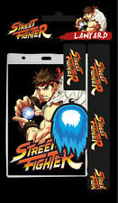 Street Fighter II Ryu Hadouken Lanyard Necklace New Retro Classic Gaming 90s New