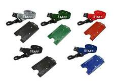 STAFF Printed Lanyard Neck Strap With Portrait ID Card Badge Holder FREEPOST