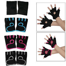 2 Pcs Fingerless Sports Fashion Gym Cycling Bike Bicycle Shockproof Gloves uk