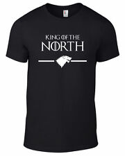 Mens Game of Thrones King Of The North Stark Wolf T Shirt