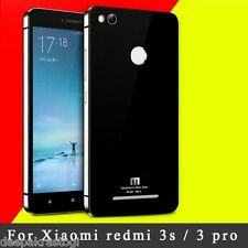 Luxury Metal Tempered Glass Back Case Cover for For XIAOMI REDMI 3S PRIME