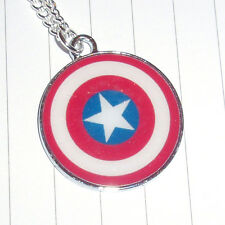 Super Hero Captain America Necklace or Earrings Kitsch Cute Kawaii