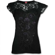 DTO. -20% ! Camiseta Top Chica SPIRAL Manga Corta Entwined -DT186262- Rosas Enca