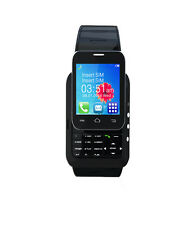 W1 BLACK KENXINDA MOBILE WATCH WITH FREE BLUETOOTH