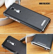 LUXURY CHROME BUMPER WITH PU LEATHER BACK CASE COVER FOR XIAOMI MI REDMI NOTE 3