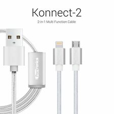 Portronics Konnect-2 (2-in-1) Multifunction cable with lightning&micro usb port
