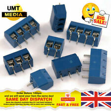 2 or 3 Pin 5.08mm (2.54mm X 2) Pitch PCB Mount Screw Terminal Block Connector UK