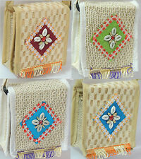 Small sling bag Jute fashion ethnic traditional looking - multiple colors