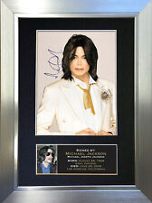 MICHAEL JACKSON Memorial Signed Autograph Mounted Photo Repro A4 Print 68