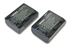 2x BATTERY INTENSILO 650mAh for SONY NP-FH50 NPFH50 FH-50 ACCU