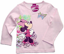 NEU! Disney Minnie Mouse Stretch Langarmshirt Shirt Longsleeve 98 104 116 128