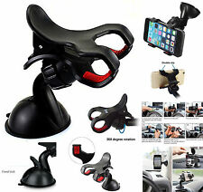 360° Rotating Windscreen Car Van Truck Mount Holder Cradle For Mobile Phones GPS