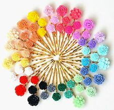 Gold Hair Grip Pins Clips Slides Bobby Pin Hair Accessory Flowers Rose Wedding