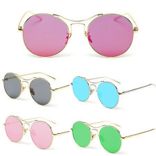 Fashion Women Vintage Retro Fashion Aviator Mirror Lens Sunglasses Glasses UV400