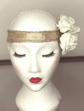 Vintage Rose Jute Hair Head Band *Available In Three Styles*