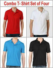 COMBO T- SHIRT COTTON PC, KNIT MATTY WEAVE HIGH QUALITY SET OF 4 PIECE