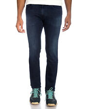 Strauss Men Blue Skinny Fit Straight Leg Stretch Jeans