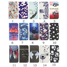 Luxury Card Flip Wallet Pattern Leather Case Stand Holder For iPhone 8 Samsung